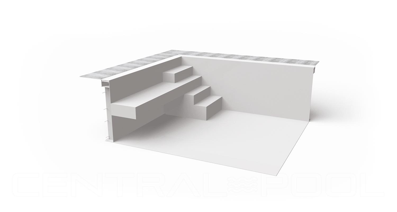 Sitzbank Blockoptik