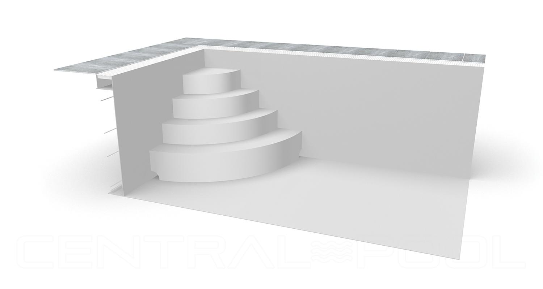 Treppe abgerundet