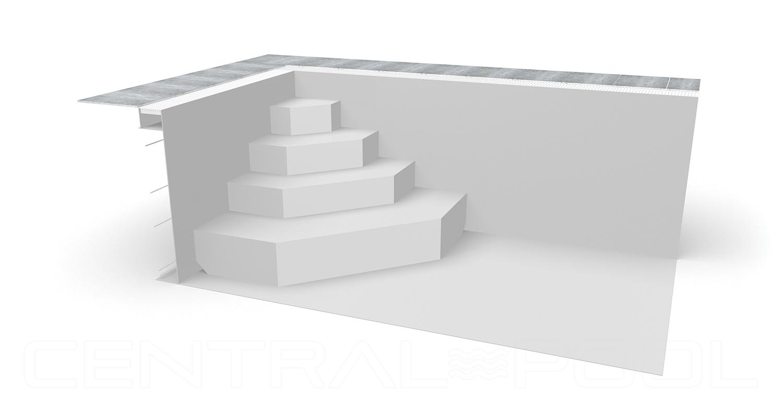 Treppe eckig